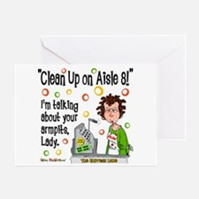 Clean Up on Aisle 8! Greeting Card