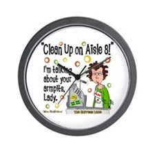 Clean Up on Aisle 8! Wall Clock