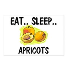 Eat ... Sleep ... APRICOTS Postcards (Package of 8