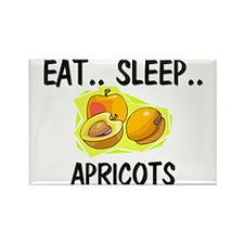 Eat ... Sleep ... APRICOTS Rectangle Magnet