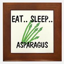Eat ... Sleep ... ASPARAGUS Framed Tile