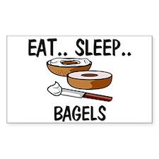 Eat ... Sleep ... BAGELS Rectangle Decal