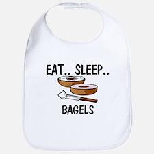 Eat ... Sleep ... BAGELS Bib