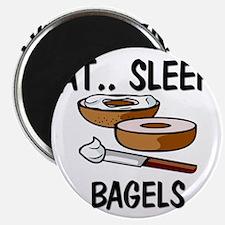 """Eat ... Sleep ... BAGELS 2.25"""" Magnet (10 pack)"""