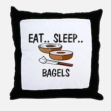 Eat ... Sleep ... BAGELS Throw Pillow