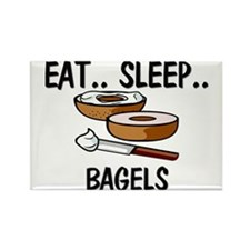 Eat ... Sleep ... BAGELS Rectangle Magnet