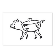 Self-Cannibalizing Pig Postcards (Package of 8)
