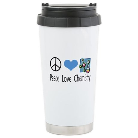 Peace Love Chemistry Stainless Steel Travel Mug