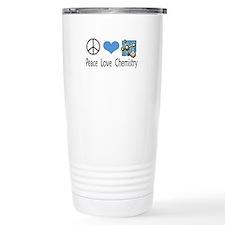 Peace Love Chemistry Travel Mug