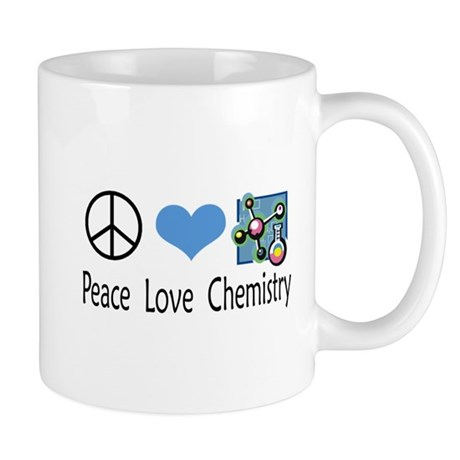 Peace Love Chemistry Mug
