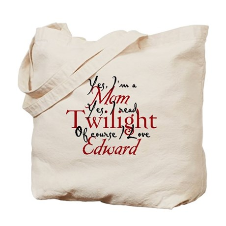 Edward Loving Twilight Mom 2 Tote Bag