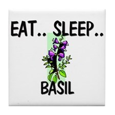 Eat ... Sleep ... BASIL Tile Coaster