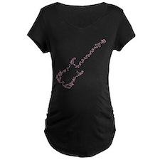 Pink Scrolls Guitar T-Shirt