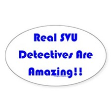Real SVU Det. Amazing Oval Decal