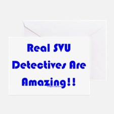 Real SVU Det. Amazing Greeting Card