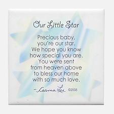 OUR LITTLE STAR POEM- Tile Coaster