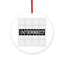 Intersect Chuck Ornament (Round)