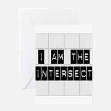 I am the Intersect - Chuck Greeting Card