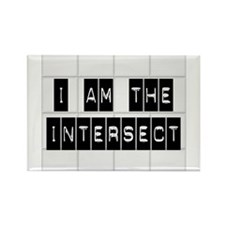 I am the Intersect - Chuck Rectangle Magnet