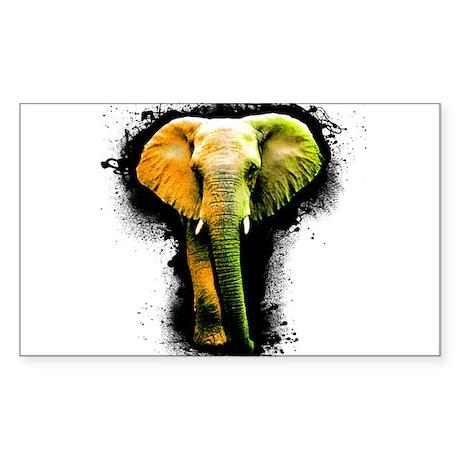Elephant Art Rectangle Sticker