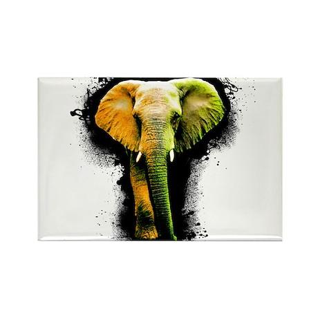 Elephant Art Rectangle Magnet