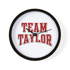 Team Taylor Personalized Custom Wall Clock