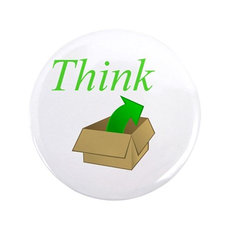 "Think Outside the Box 3.5"" Button (100 pack)"