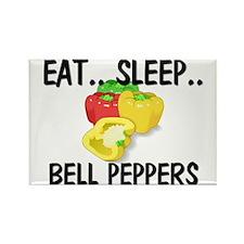 Eat ... Sleep ... BELL PEPPERS Rectangle Magnet