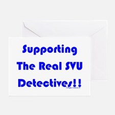 Supportin Real SVU Detectives Greeting Cards (Pk o