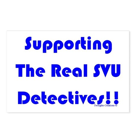 Supportin Real SVU Detectives Postcards (Package o