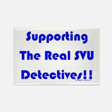Supportin Real SVU Detectives Rectangle Magnet