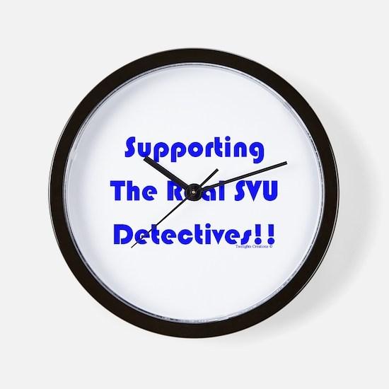 Supportin Real SVU Detectives Wall Clock
