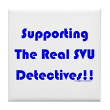 Supportin Real SVU Detectives Tile Coaster