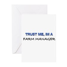 Trust Me I'm a Farm Manager Greeting Cards (Pk of