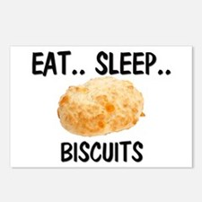 Eat ... Sleep ... BISCUITS Postcards (Package of 8