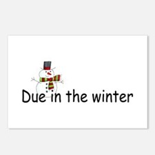 Due In The Winter Postcards (Package of 8)