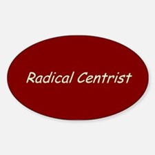 Radical Centrist Oval Decal