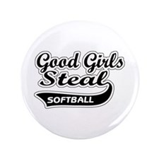 "Good Girls Steal (black) 3.5"" Button (100 pack)"