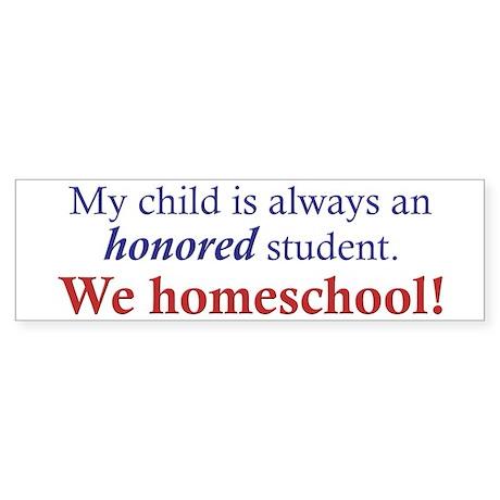 Honored Student Bumper Sticker