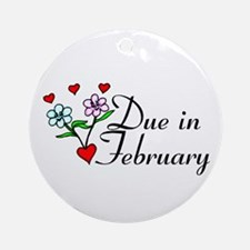 Due In February Ornament (Round)