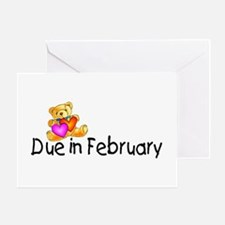 Due In February Greeting Card