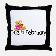 Due In February Throw Pillow