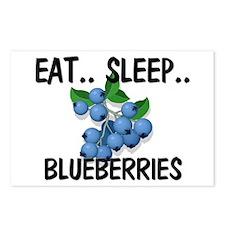 Eat ... Sleep ... BLUEBERRIES Postcards (Package o