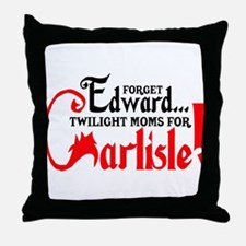 Twilight Moms for Carlisle Throw Pillow