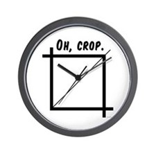 Oh, Crop Wall Clock
