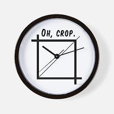 Oh, Crop Wall Clock