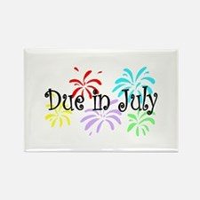 Due In July Rectangle Magnet