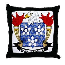 Dorsey Family Crest Throw Pillow