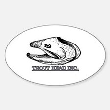 TROUT HEAD INC. Oval Decal