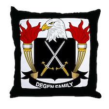Degen Family Crest Throw Pillow
